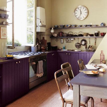 Kitchen Cabinets. Purple Kitchens: