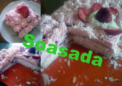 Tarta de hojaldre con fresas y nata Abril+20091