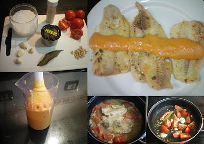 Filetes de pescado con salsa de piñones Pescado+2