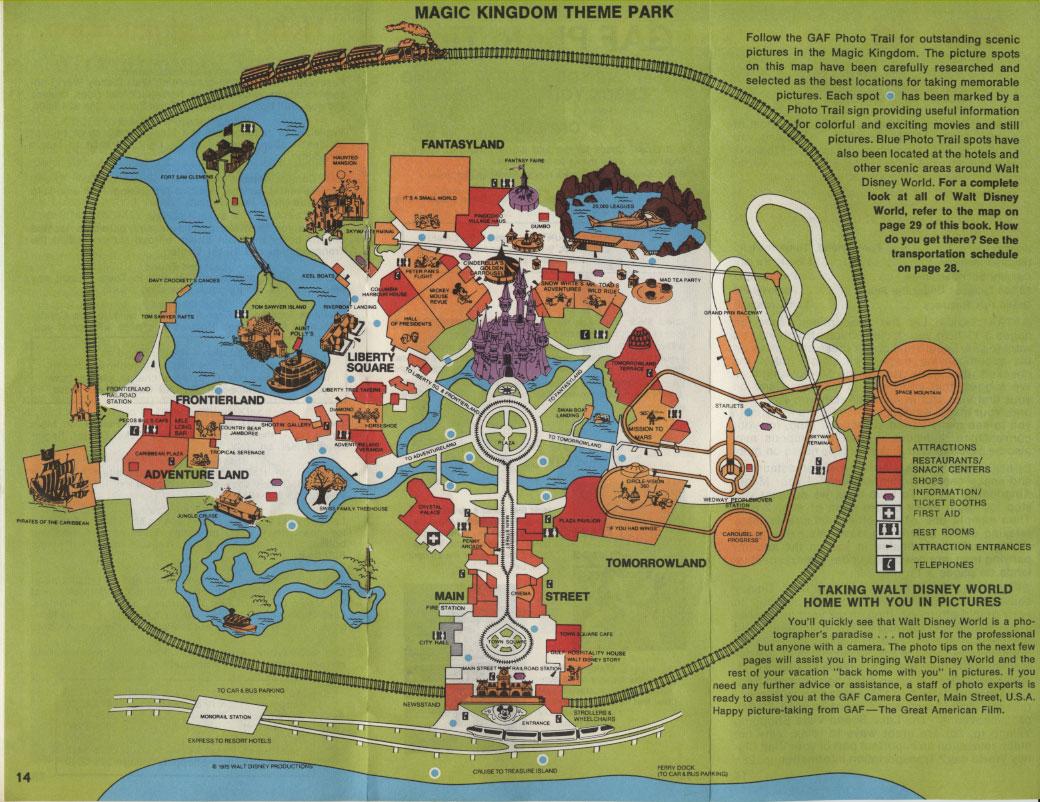 Magic Kingdom Map 2010 The Map of The Magic Kingdom