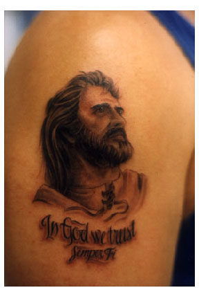 jesus cross tattoo. jesus face tattoo This is