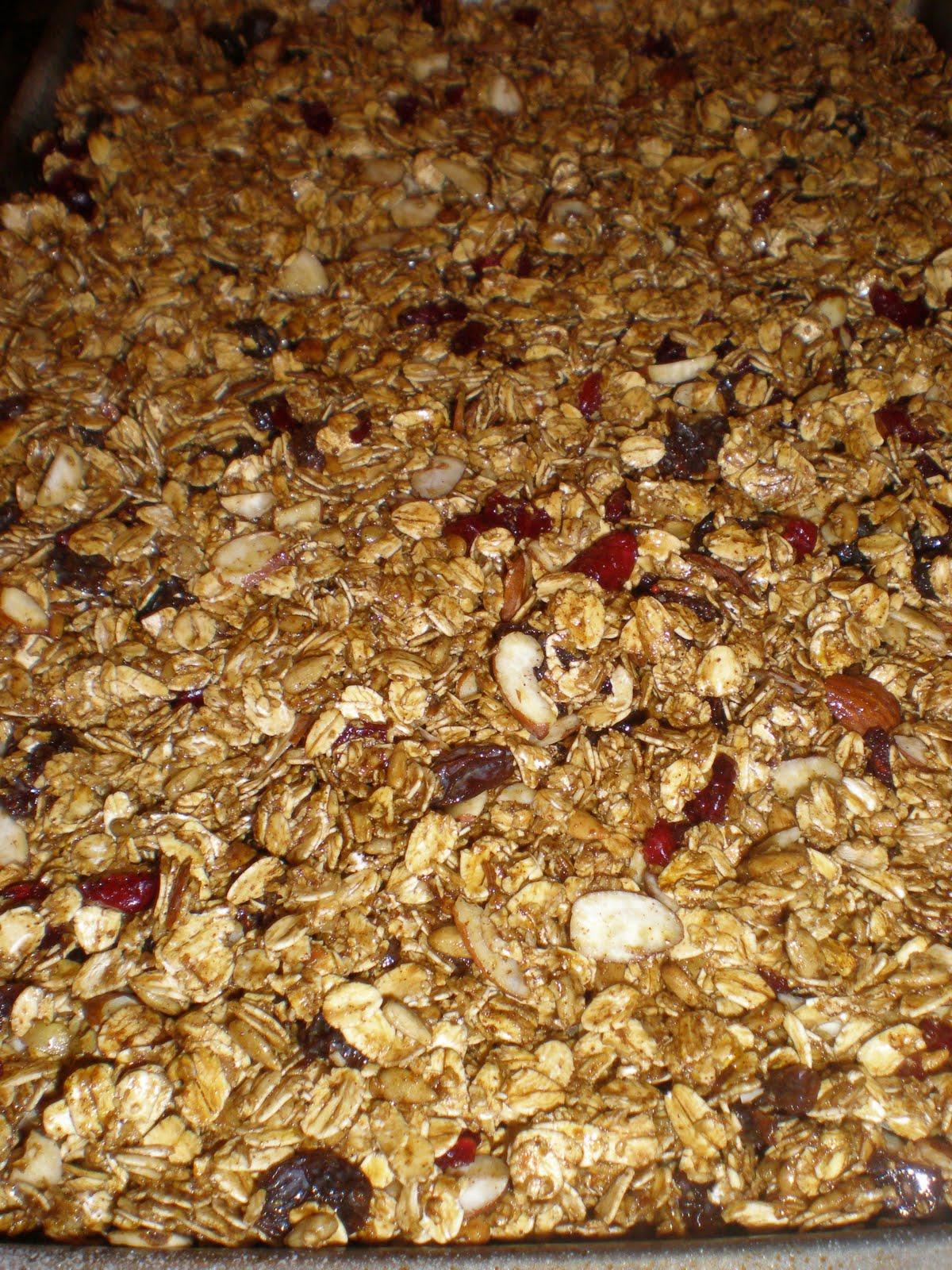how to make almond granola bars