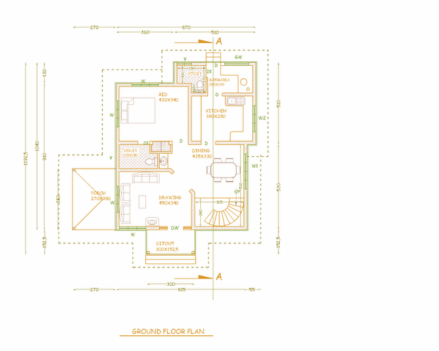 3 bedroom house plans in kerala single floor joy studio Ground floor 3 bedroom plans
