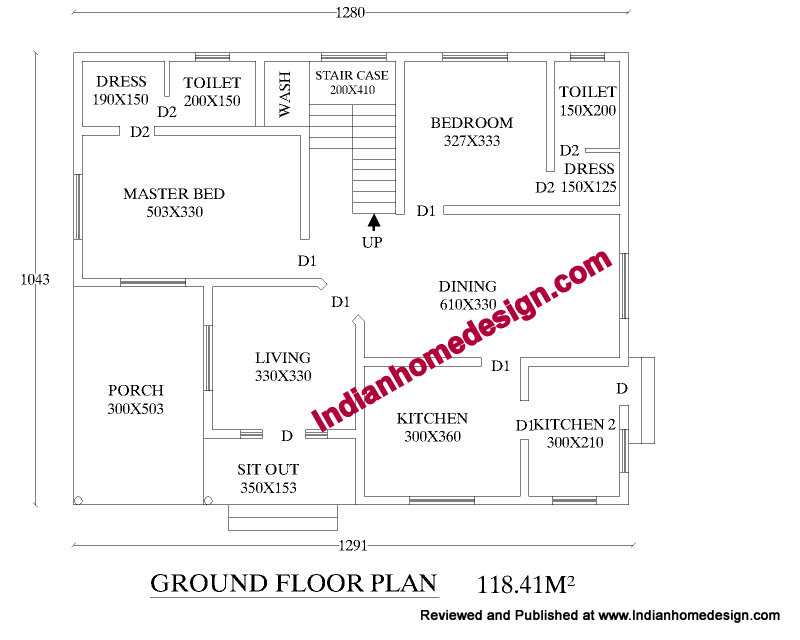 Single Floor House Plans In Kerala. Posted by Indian Home Plans