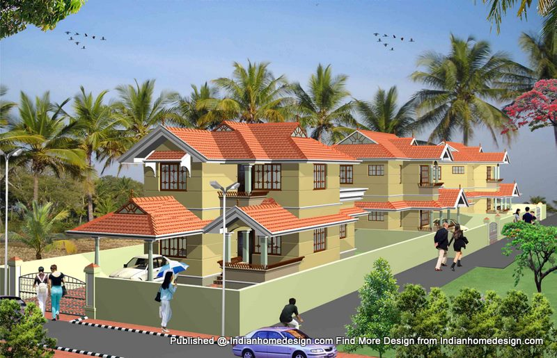 two bedroom house plans in kerala. kerala Style house 3D plans