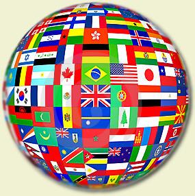 Clique no globo e conheça os países do mundo
