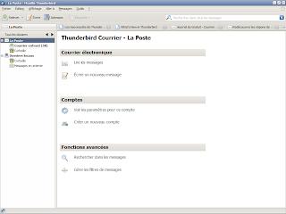 Thunderbird 3 - Affichage colonne des comptes