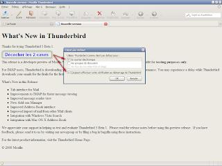 Thunderbird 3 beta 1 - Désactiver les options de client mail par défaut