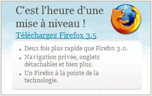 Passer à Firefox 3.5 - Invitation Mozilla