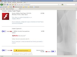 Adobe - Installation Flash Player sans McAffe