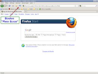Firefox 3.6 beta 2 - Bouton plein écran