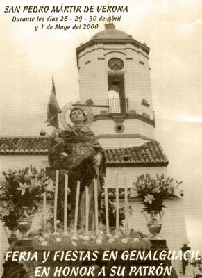 Cartel de las Fiestas de San Pedro Martir de Verona en Genalguacil
