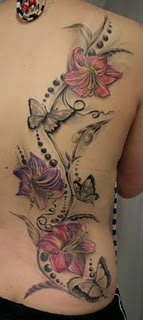 Back Body Tattoo Ideas With Butterfly