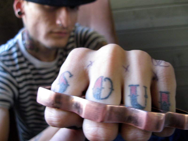 Gangster tattoos just like any groups of tats use different symbols in their