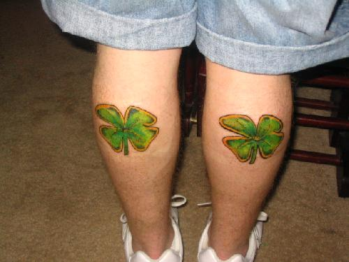 Celtic Clover Tattoos shamrock tattoo pictures. free tattoo picture