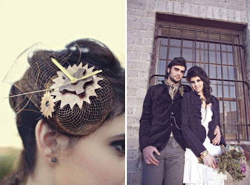 steampunk meets anthropologie hair clip