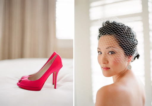 hot pink dior wedding shoes