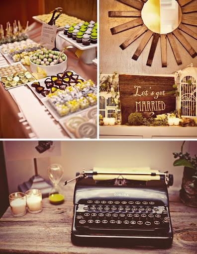 wedding typewriter From their plannerFrancie Mathey for Tangorra Wedding