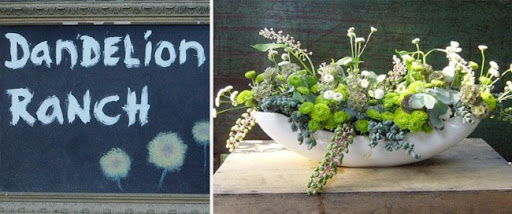 Dandelion ranch los angeles green wedding flowers photo