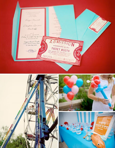 Each guest was handed enough tickets to visit each vendor at the carnival