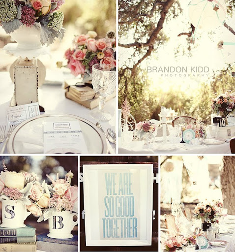 french vintage inspired wedding decor