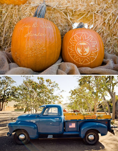wedding with pumpkins