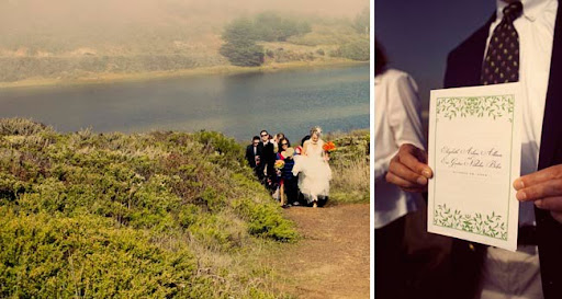 green eco organic wedding in california