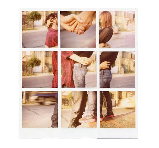 polaroid collage love