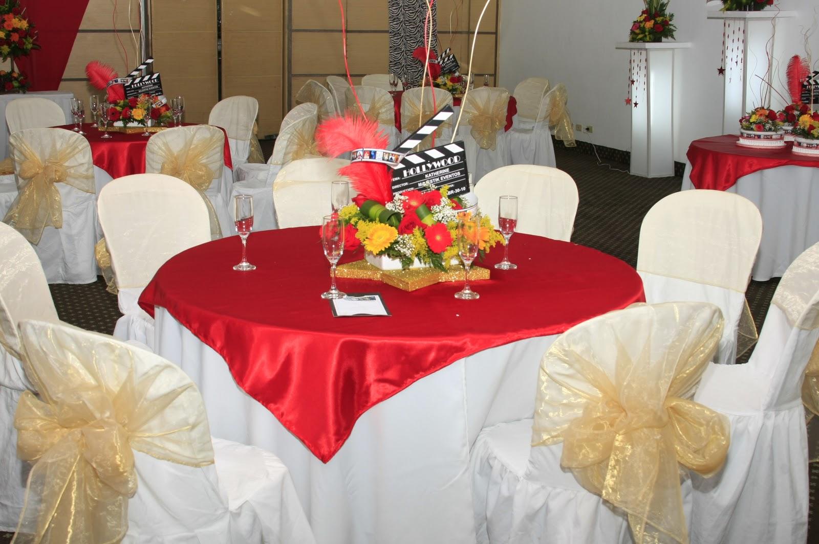 Majestik eventos fiestas de 15 a os for Centros de mesa para salon