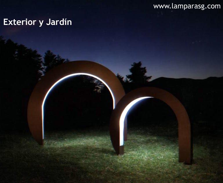 Lamparas g iluminacion y dise o lamparas jard n en s s de for Iluminacion exterior jardin diseno