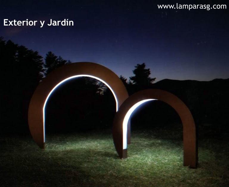 Lamparas g iluminacion y dise o lamparas jard n en s s de for Iluminacion exterior jardin