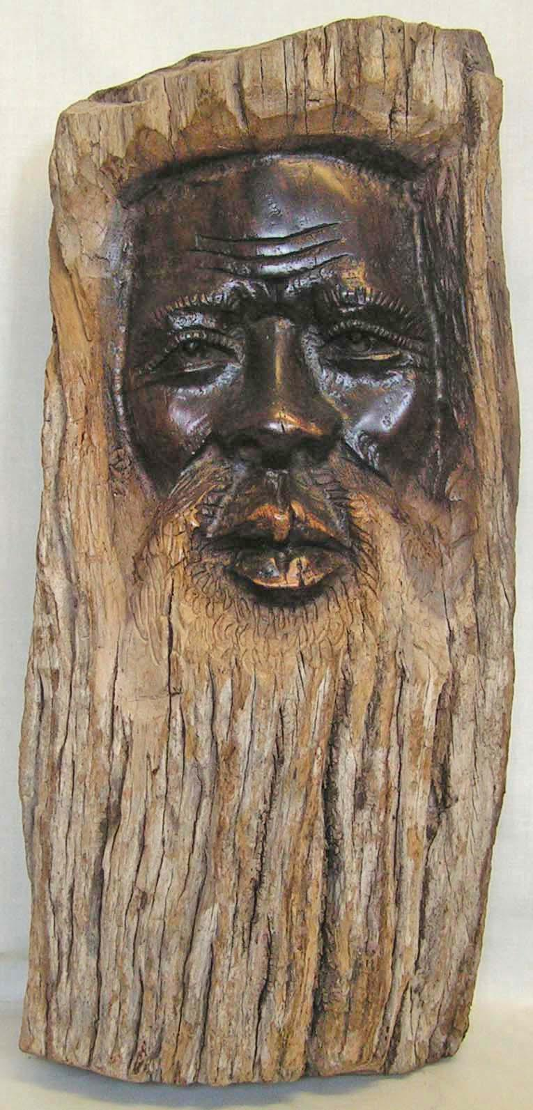 Commercial exploration diary wood carving