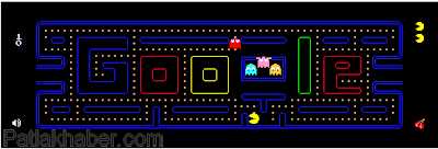 Google+pacman+oyunu,google+pacman,