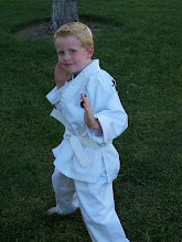 Tayson's First Day Of Karate!  Sept. 30th 2008