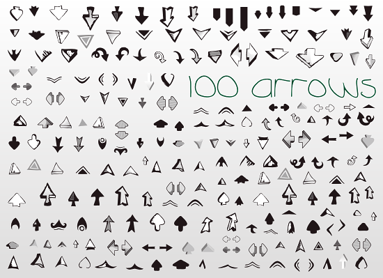 black and white arrow icons