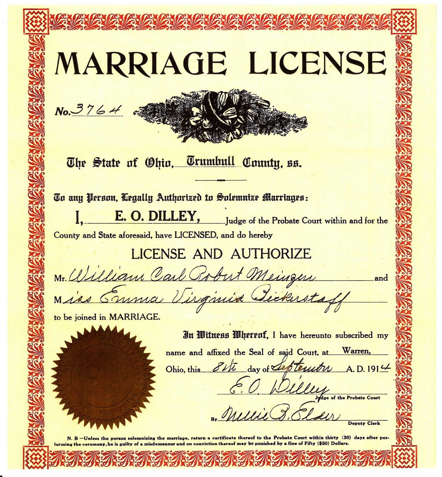 Wedding Certificate: My Ancestors And Me: Reviewing Marriage Records