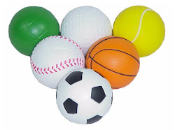 pelotas de algunos deportes