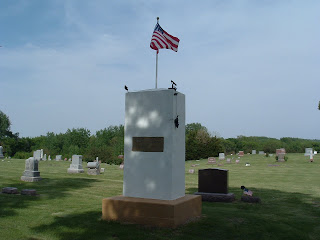 Veterans Memorial in Cambridge, Iowa Cemetery