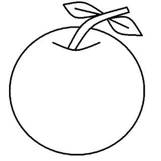 Desenho De Laranja Para Imprimir E