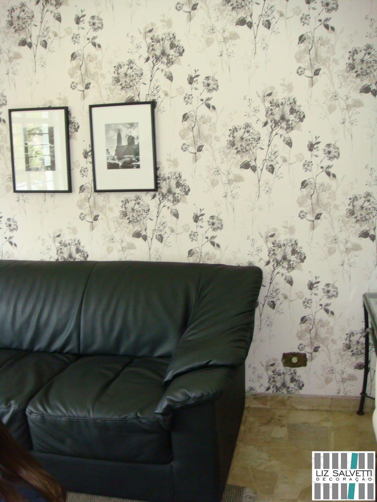 decoracao de interiores papel de parede: Liz Salvetti Decoração: Papel de Parede – Consultório em São Roque