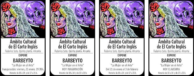 EXPOSICION DE BARBEYTO EN EL CORTE INGLES