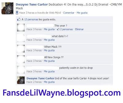 Imagen del facebook de Lil Wayne