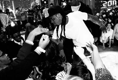 Imagen de Lil Wayne en la actuacion de 106 & Park