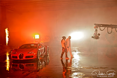 Imagen de Lil Wayne y Birdman en el rodaje del video de Fire Flame Remix del disco Like Father, Like Son II