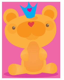 ART by STOWE: Princess baby Animal Valentines 2010