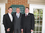 Levi with President Belliston and  Elder Lamb in Baltimore