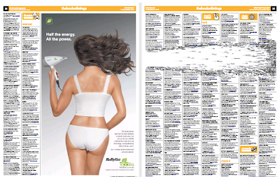 Babyliss Advert in The London Paper