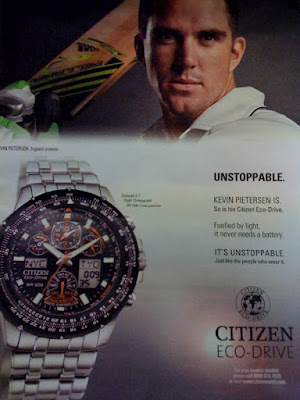 Kevin Pietersen Citizen Eco-Drive Advert