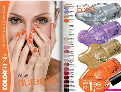 Obs Os esmaltes da linha Colortrend n o participam da promo o Color Trend