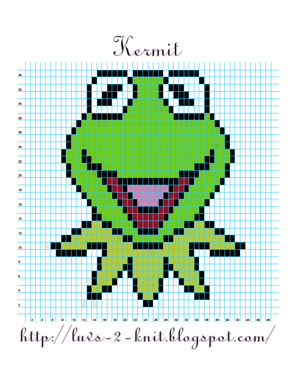 Luvs 2 Knit: Sesame Street Crochet Chart Pattern By Luvs2knit